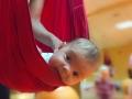 Самые маленькие уже тренируют поддержку головки